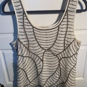 Search for Sanity Tops - GOLD BEADED CREAM TANK TOP, SLIGHTLY SHEER SO CUTE